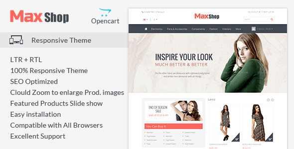 Maxshop - Responsive Opencart Theme - Fashion OpenCart