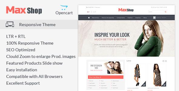 Maxshop - Responsive Opencart Theme