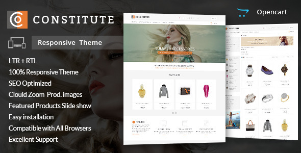 Constitute - Opencart Responsive Theme - Shopping OpenCart