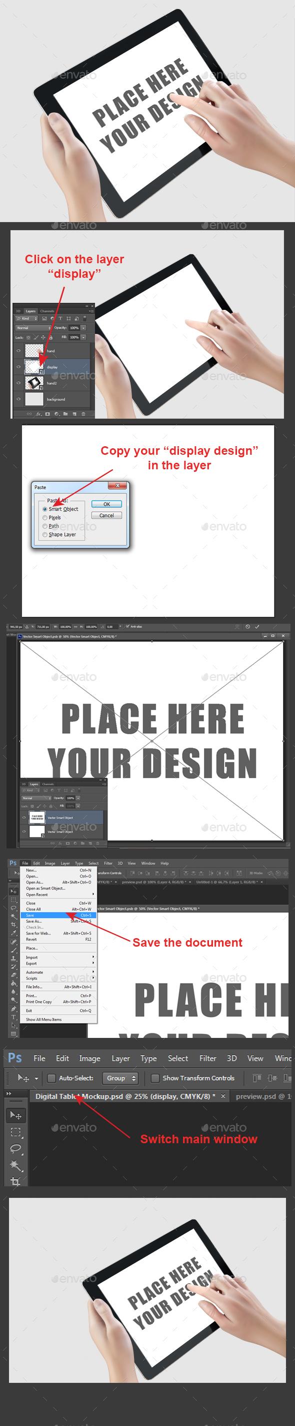 Digital Tablet Mockup - Product Mock-Ups Graphics