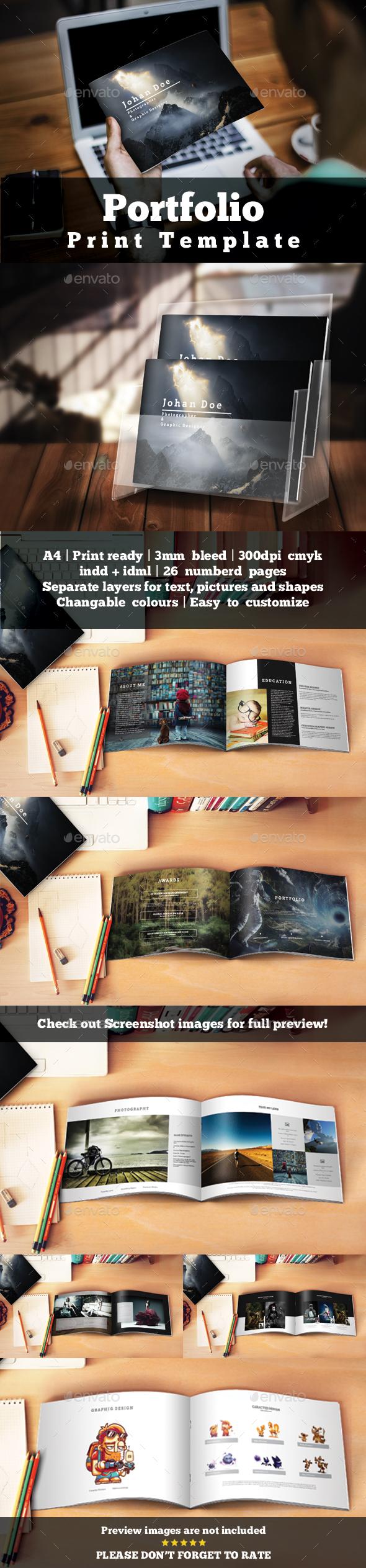 Portfolio Presentation Template - Portfolio Brochures