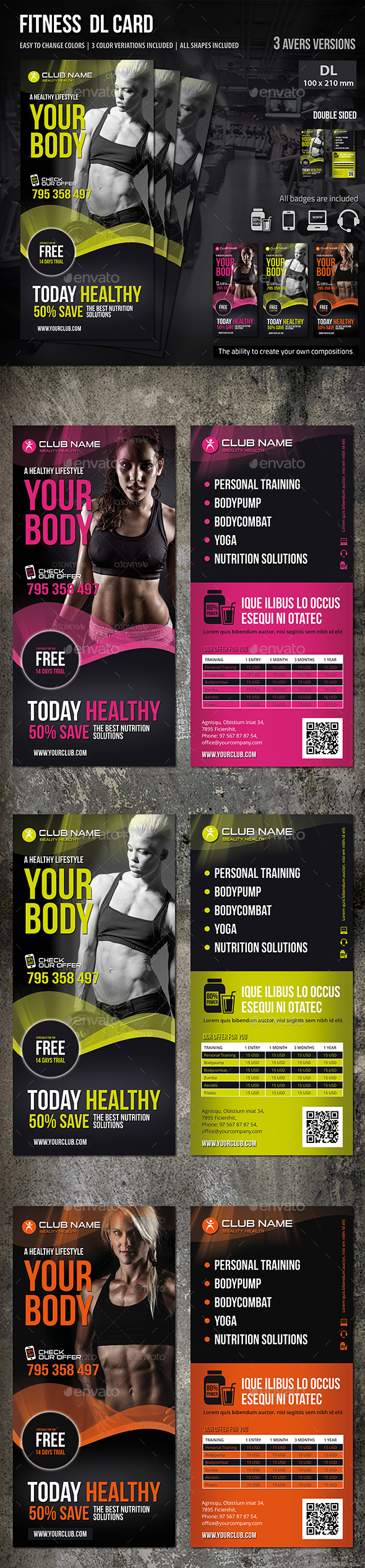 Fitness DL Card - Sports Events