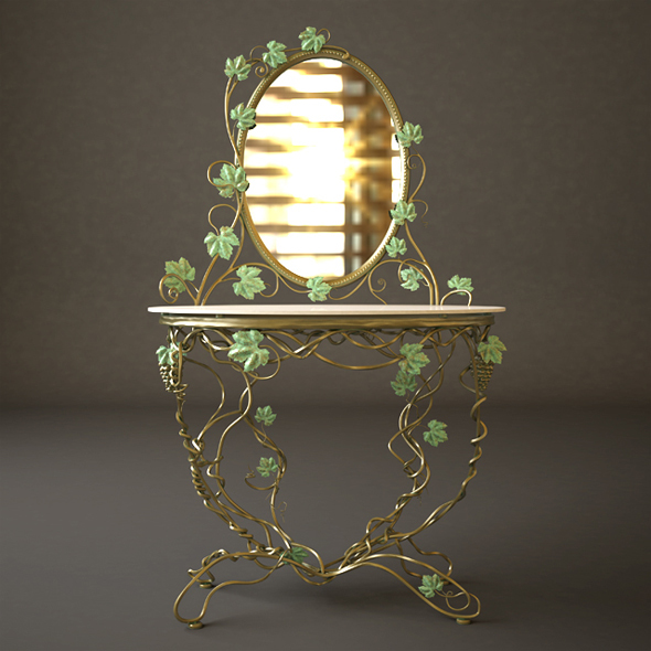 Dressing Table With Mirror - 3DOcean Item for Sale