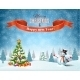 Christmas Winter Landscape - GraphicRiver Item for Sale