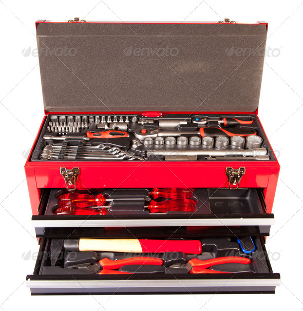 box with the tool - Stock Photo - Images