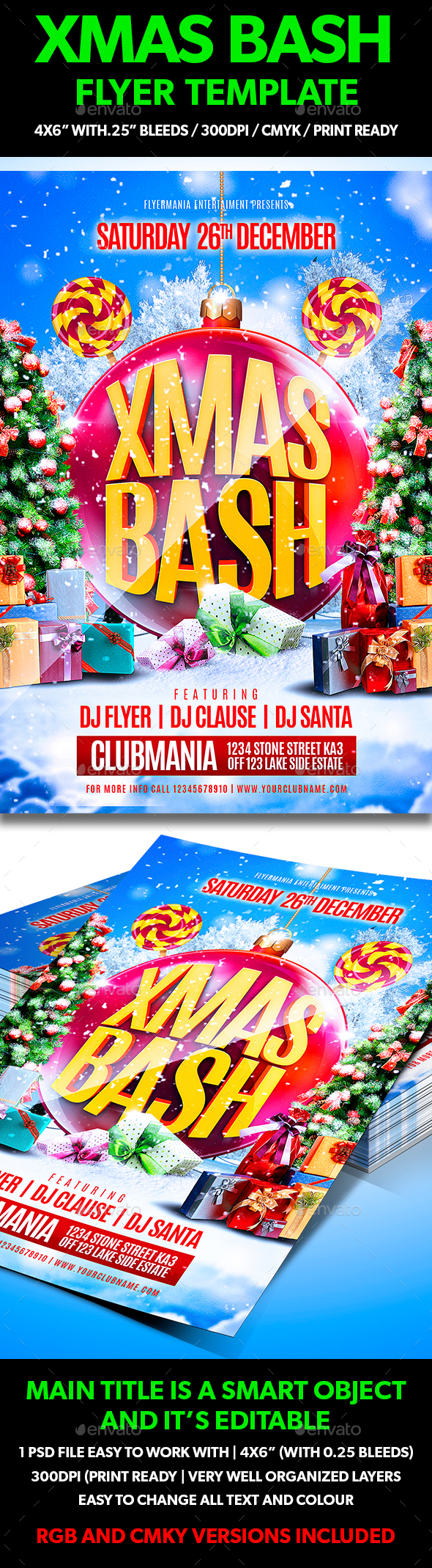 Xmas Bash Flyer Template - Holidays Events