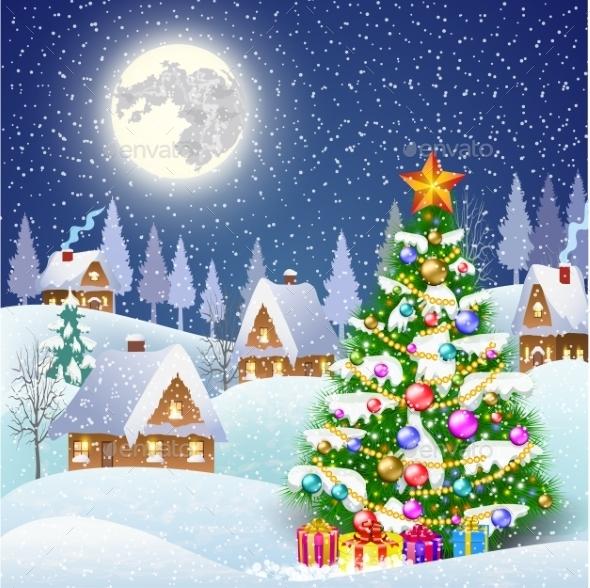 Snowy Village - Christmas Seasons/Holidays