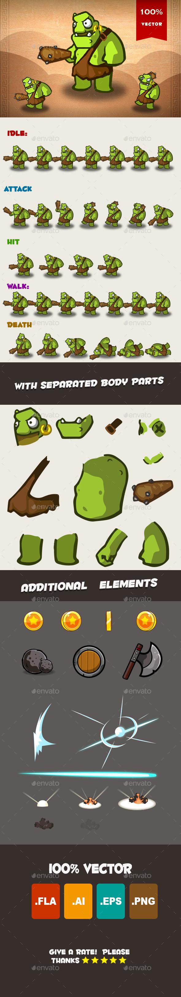Ogre Spritesheet 01 - Sprites Game Assets