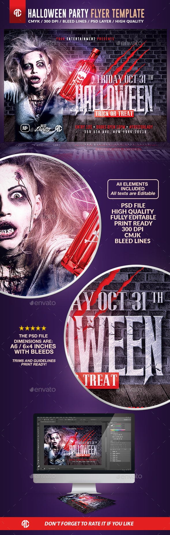 Halloween Night Party | Psd Flyer Template - Holidays Events