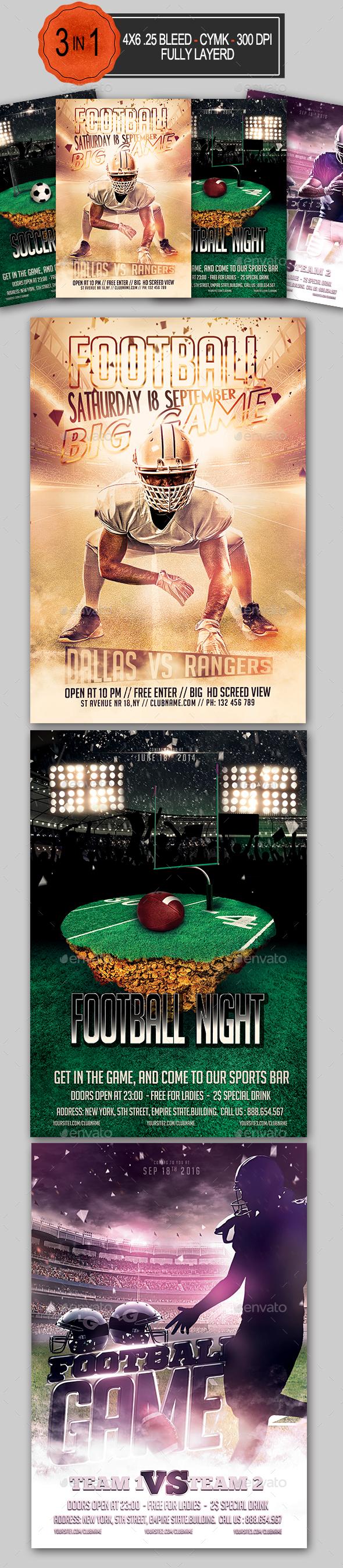 Football Flyer Bundle - Sports Events