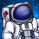 Astronaut in Space - GraphicRiver Item for Sale