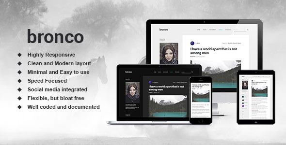 Bronco – Elegant Blogging Theme for WordPress
