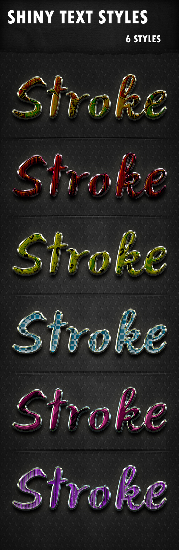 Shiny Text Styles - Text Effects Styles