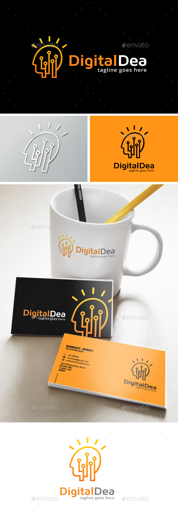Digital Idea Logo - Humans Logo Templates