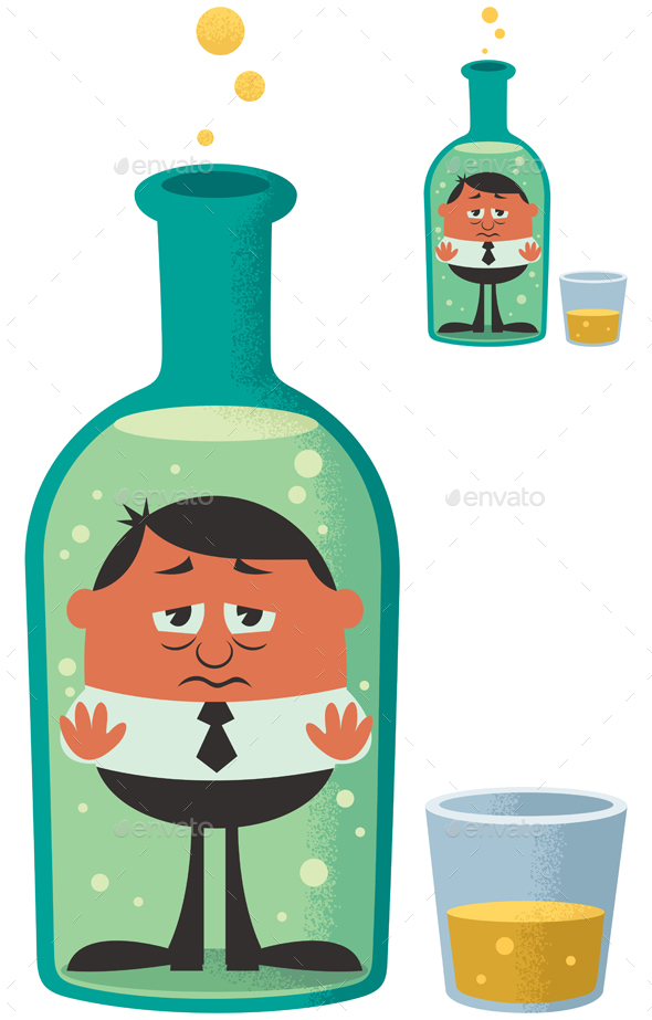 Alcoholism - Health/Medicine Conceptual
