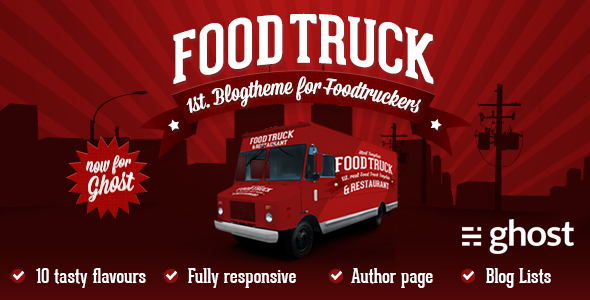 Food Truck & Restaurant 8 Styles – Ghost Theme