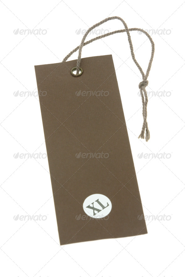 "Size ""XL"" tag - Stock Photo - Images"