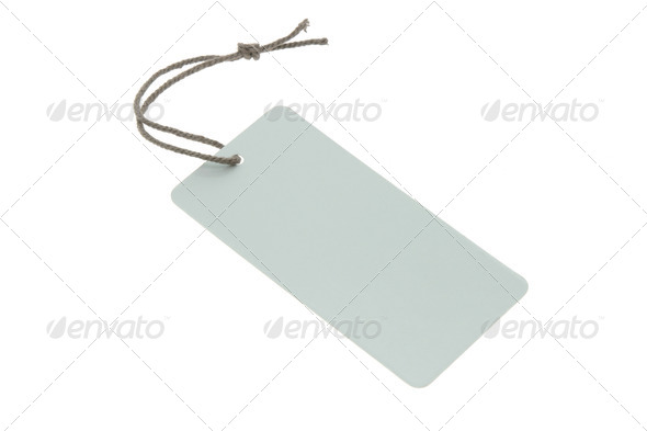 Blank light blue tag - Stock Photo - Images