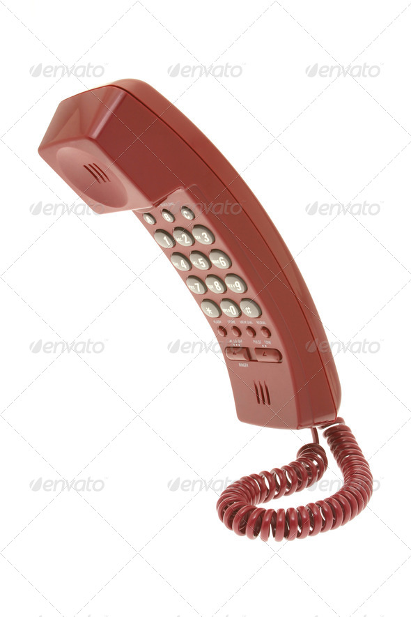 Red telephone - Stock Photo - Images