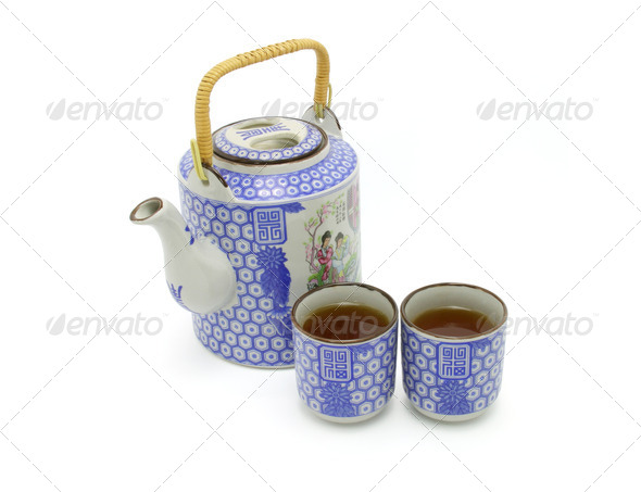 Chinese prosperity tea set - Stock Photo - Images
