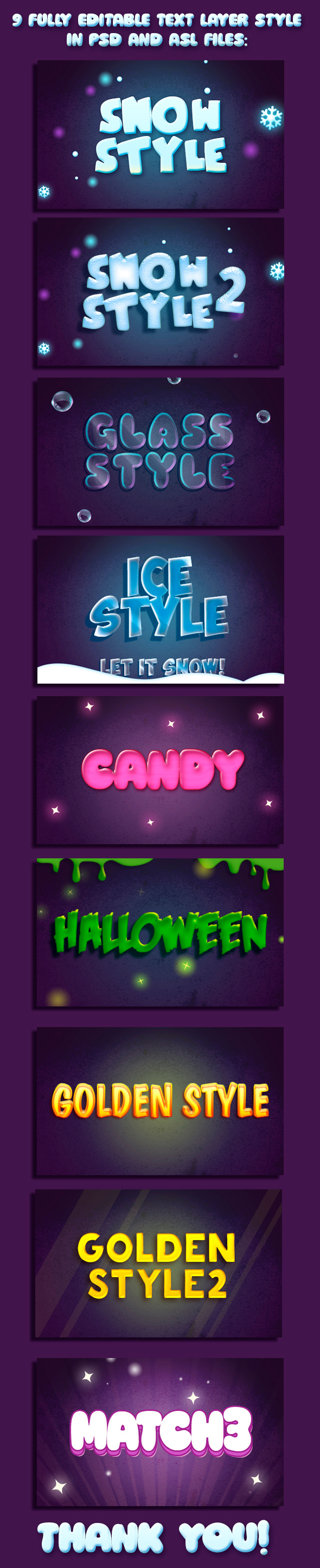 9 Cartoon Text Styles - Text Effects Styles