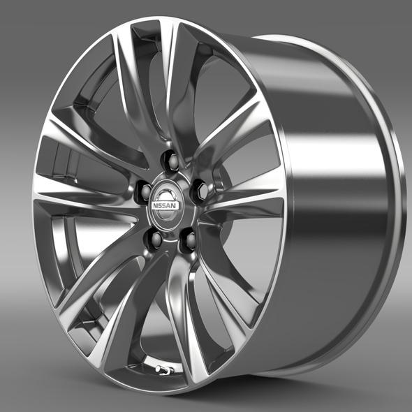 Nissan Fuga Hybrid rim 2015 - 3DOcean Item for Sale