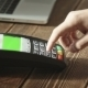 Hand Swiping Credit Card On POS Terminal - VideoHive Item for Sale