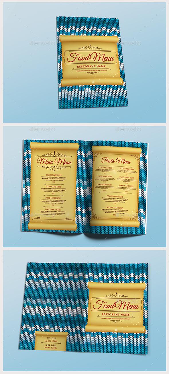 Winter & Christmas Food Menu - Food Menus Print Templates