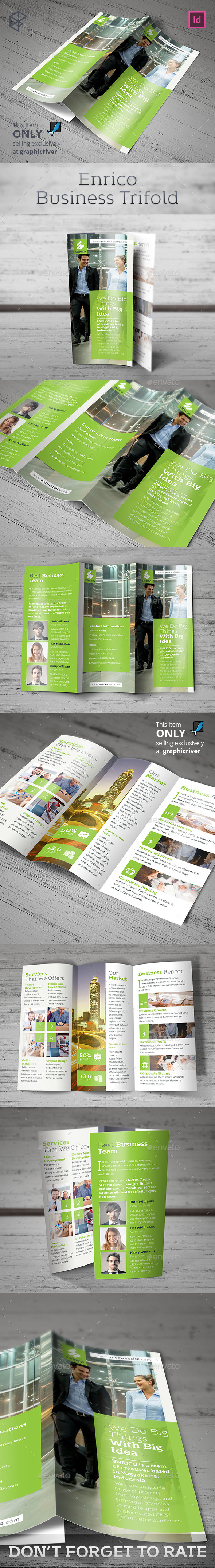 Enrico Business Trifold - Corporate Brochures