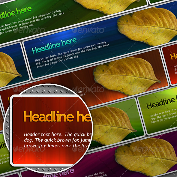 colorful website header - Banners & Ads Web Elements
