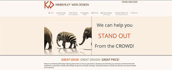 Kimberley web design profile theme forest