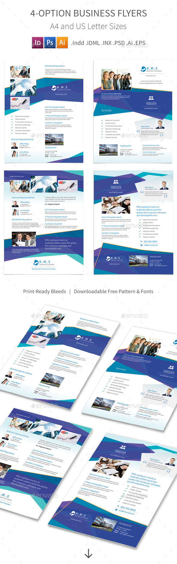 Business Consulting Services Flyers – 4 Options - Corporate Flyers