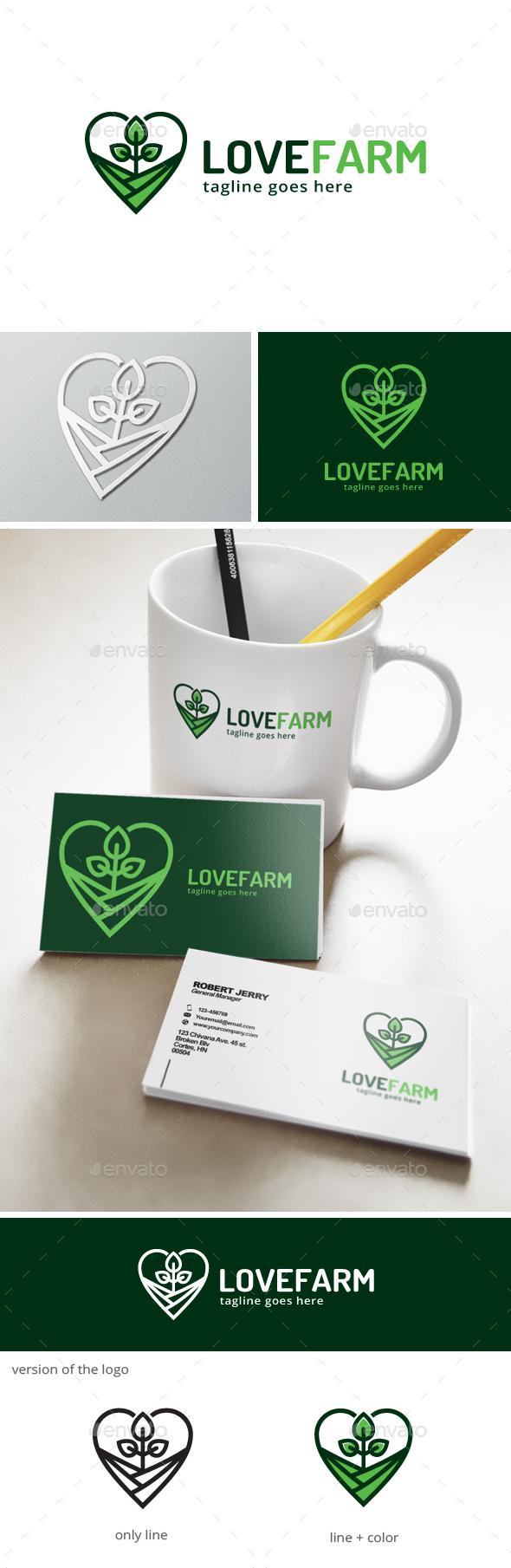 Love Farm Logo  - Nature Logo Templates