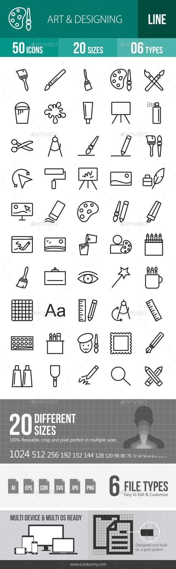 Art & Designing Line Icons - Icons