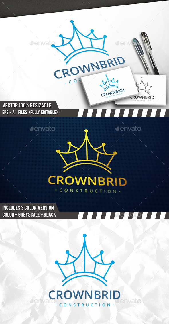 Crown Bridge Logo - Symbols Logo Templates