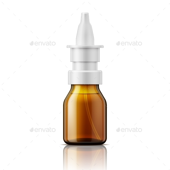Glass Nasal Spray Bottle. - Man-made Objects Objects
