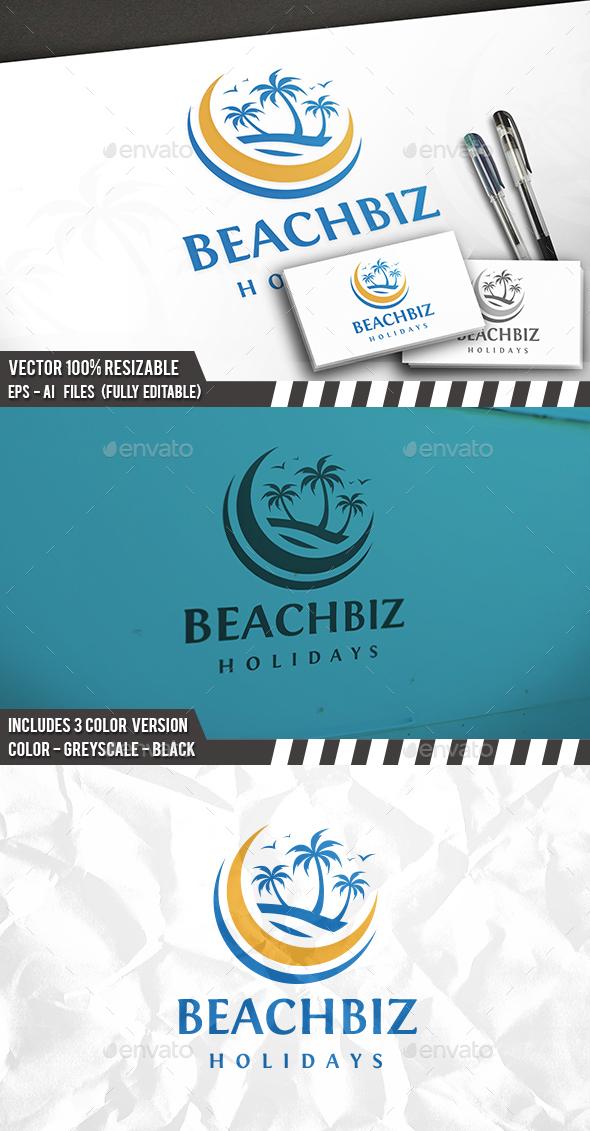 Beach Travel Logo - Nature Logo Templates