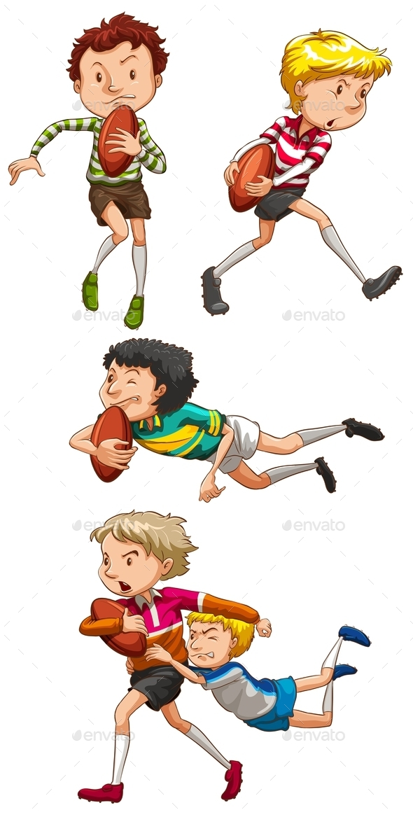 Rugby - People Characters