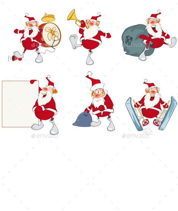 Cartoon Illustration of Santa Claus for you Design - Christmas Seasons/Holidays