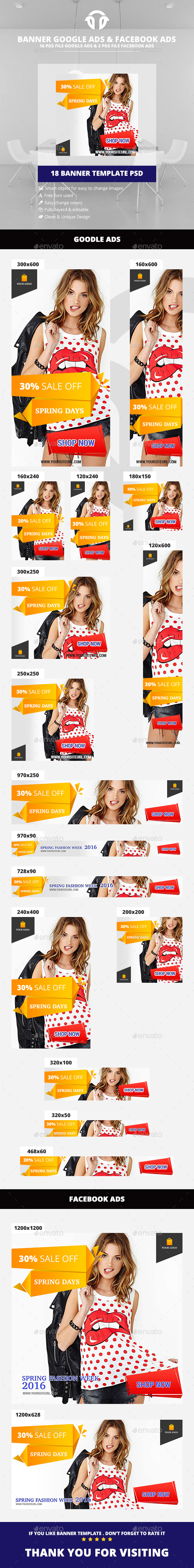 Spring Days Fashion - Banners & Ads Web Elements