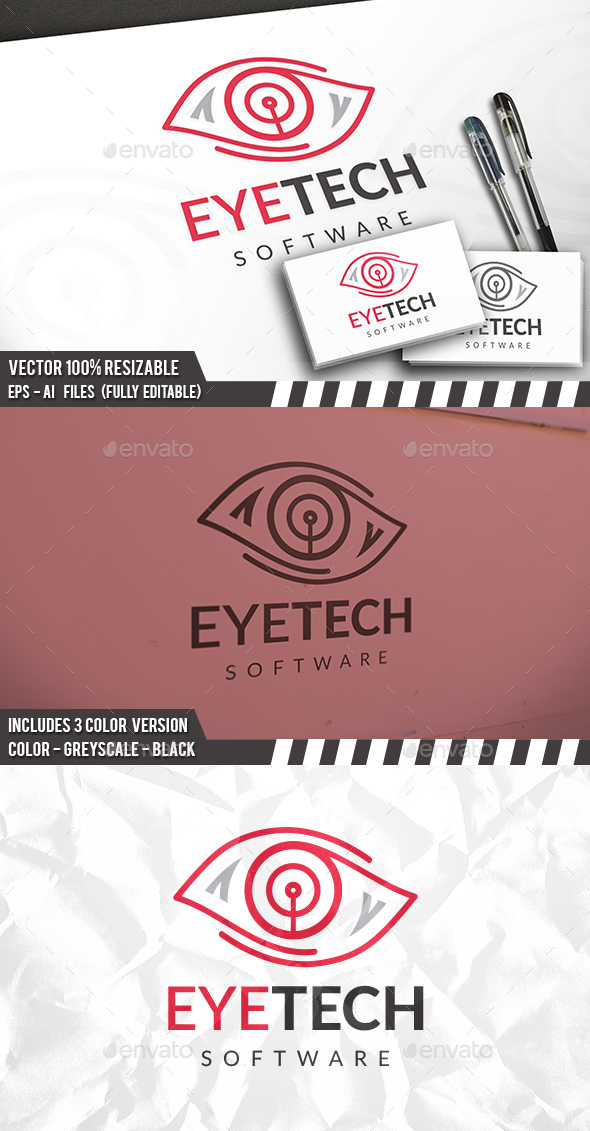 Eye Tech Logo - Symbols Logo Templates