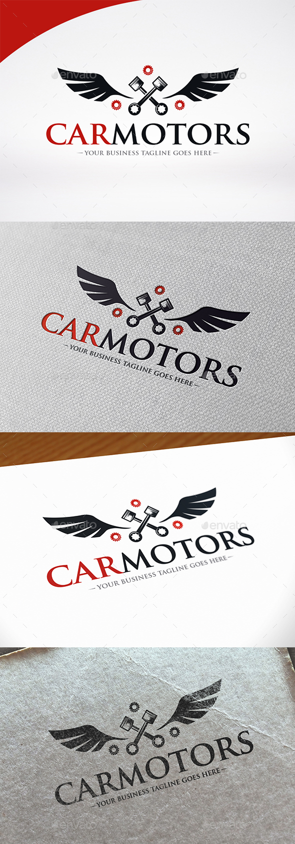 Car Motor Logo Template - Crests Logo Templates