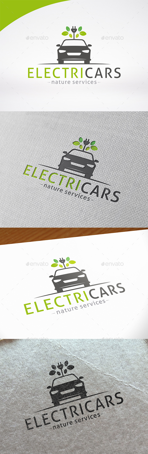 Electric Car Logo Template - Nature Logo Templates