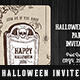 Halloween Ticket Party Invitation - GraphicRiver Item for Sale