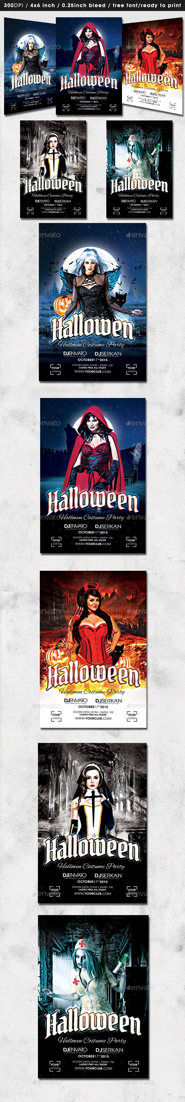 5 Halloween Flyer - Clubs & Parties Events