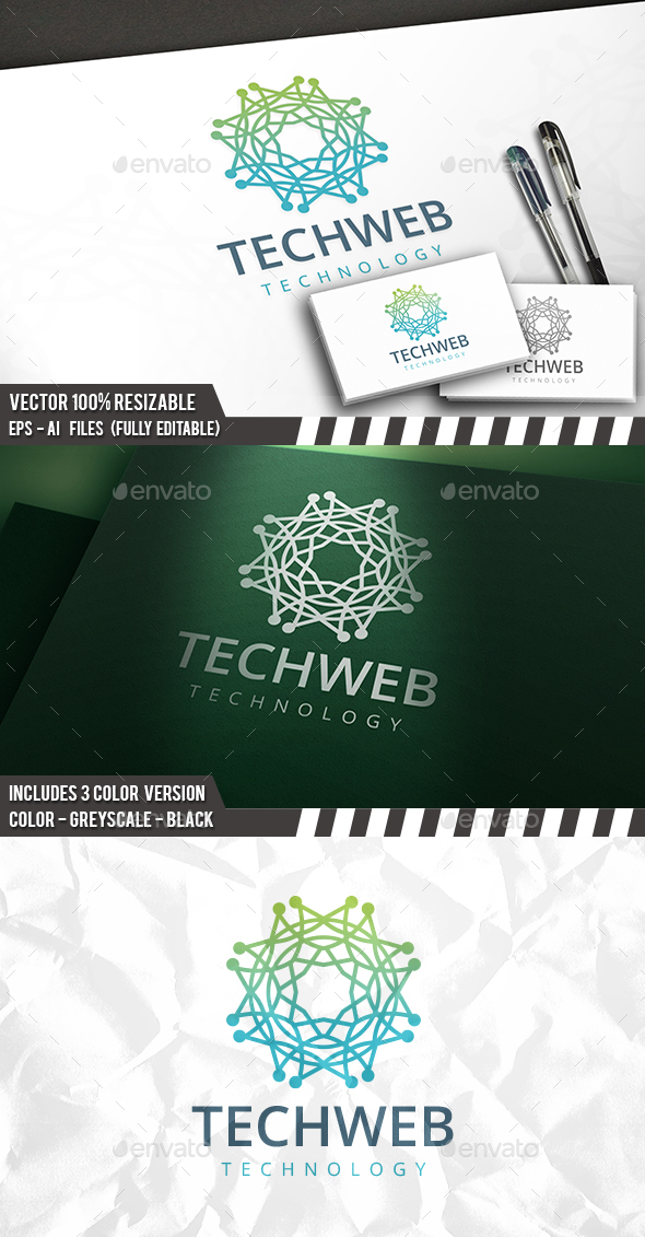 Tech Web Logo - Vector Abstract