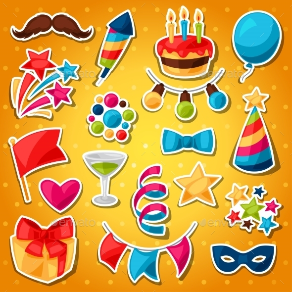 Carnival Show And Party Set Of Celebration - Seasons/Holidays Conceptual