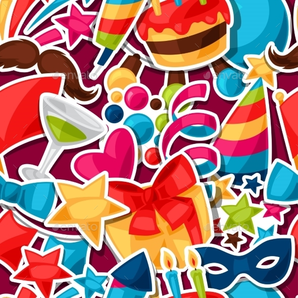 Carnival Show And Party Seamless Pattern - Seasons/Holidays Conceptual