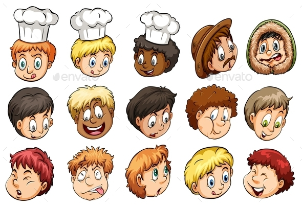 A Group of Faces - People Characters