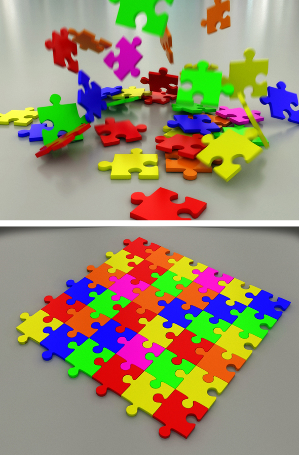 Jigsaw Puzzle - 3DOcean Item for Sale